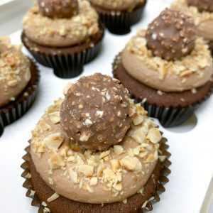 Choc Hazelnut Cupcakes