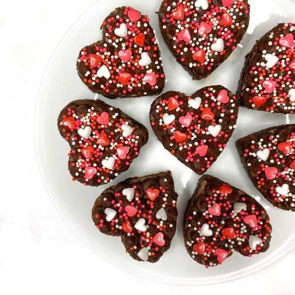 Love Heart Brownie Box
