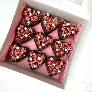 Love Heart Brownie Box | Brownie Delivery Brisbane