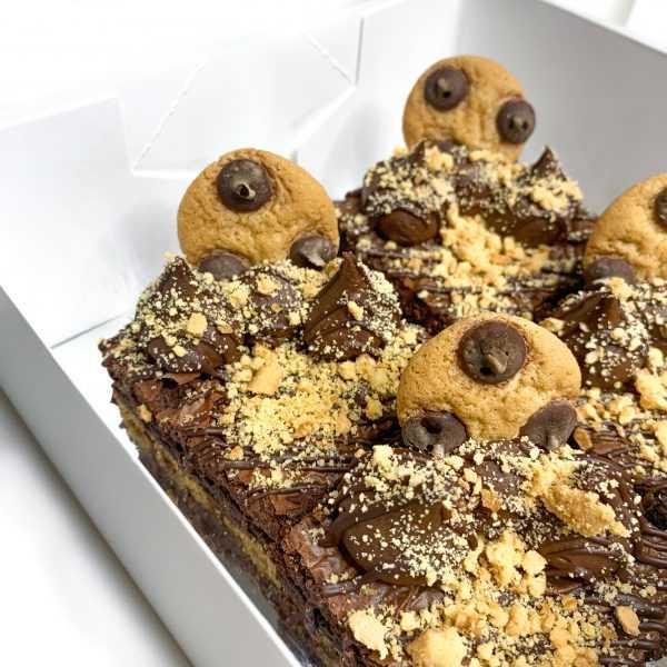 Jumbo Cookie Dough Brownies   Brisbane baked goods