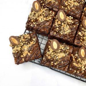 Jumbo Choc Almond Brownies | The Food Lovers Market | Brisbane Baker